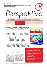 Perspektive - 01/2007 - Zentralverein der Wiener Lehrerschaft