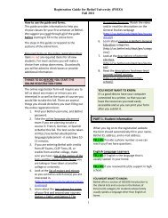 PSEO Registration Form - College of Arts & Sciences - Bethel ...