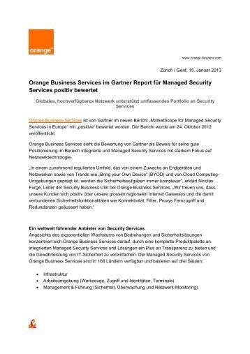 Orange Business Services im Gartner Report für Managed Security ...