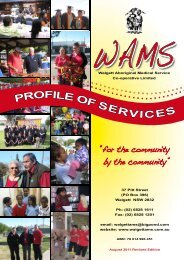 WAMS Profile of Services - Augus...