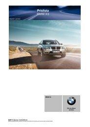 Prislista BMW X3