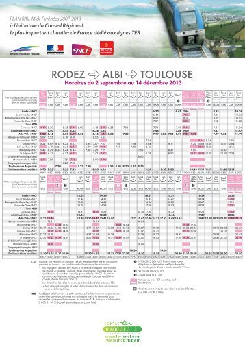 Vos horaires habituels ter sncf for Ter toulouse
