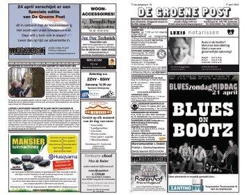 De Groene Post, editie 17 april - Boekhandel en Drukkerij Spijkerman