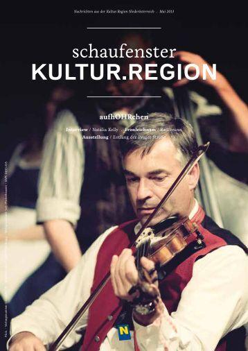 Schaufenster Kultur.Region Mai 2013 - Museen & Sammlungen