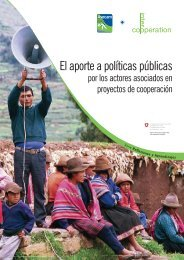 El aporte a políticas públicas por los actores asociados en ... - MAELA