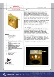 Specification Sheet 808/830 nm Broad Area Laser Diode Product ...