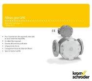 Filtres gaz GFK - Gasotec