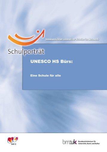 Schulporträt Unesco HS Bürs - Hauptschule Bürs
