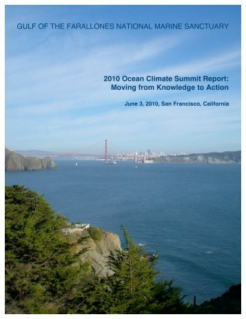 2010 Ocean Climate Summit Report - Gulf of the Farallones National ...