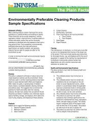 Environmentally Preferable Cleaning Products Sample - INFORM, Inc.