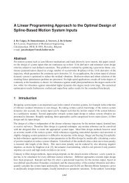 A Linear Programming Approach to the Optimal Design of Spline ...