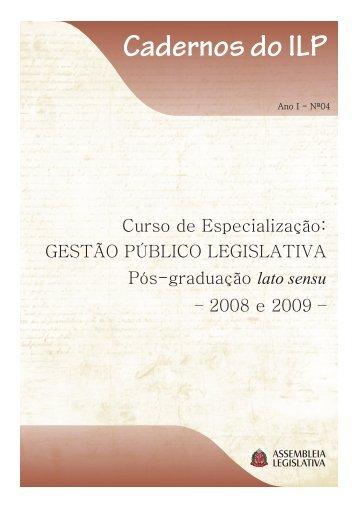 Gestão Público Legislativa Pós-graduação lato sensu - Assembleia ...