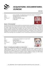 Nouveautés Mars 2013 Documentaires jeunesse.pdf - Terville
