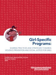 Girl-Specific Programs: - Fondation Filles d'Action