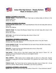 IH Weekly Bulletin - Ramapo Indian Hills High School District