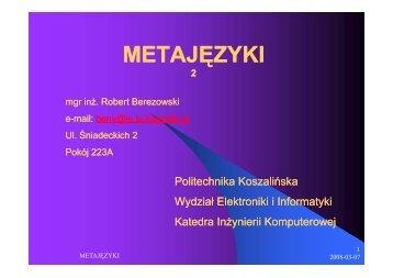 METAJĘZYKI - Koszalin