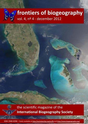 4 - The International Biogeography Society