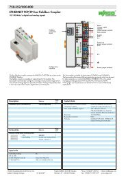 750-352/020-000; ETHERNET TCP/IP Eco Feldbus-Koppler - Wago