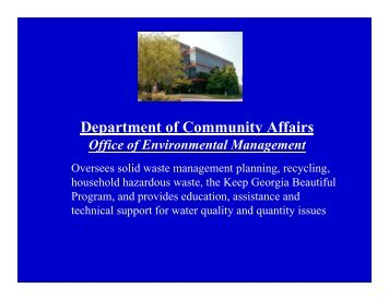 DCA, Water First - Georgia Department of Natural Resources