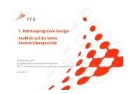 7. Rahmenprogramm Energie Ausblick auf die letzte ...