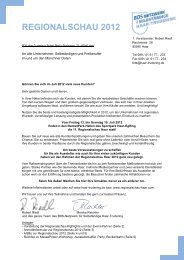 REGIONALSCHAU 2012 - Regionalschau Haar 2012