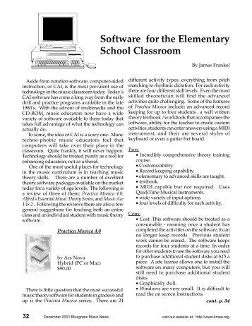 Software for the Elementary School Classroom