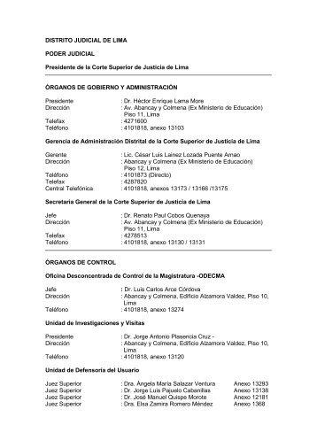 Distrito Judicial de Lima - Ministerio de Justicia y Derechos ...