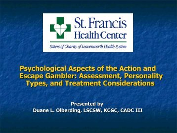 Psychological Aspects of the Action and Escape ... - 1-888-betsoff