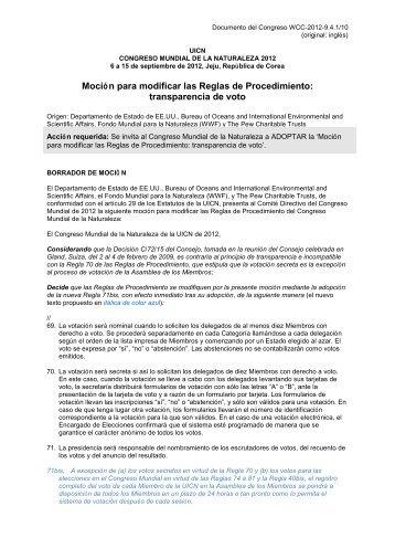 SP-WCC-2012-9.4.1-10 Mocion-Transparencia de voto - IUCN Portals