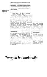 31) J. Simons / I.Veeke Terug in het onderwijs... een kwestie van ...