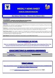 next weekly news sheet - The Football Association