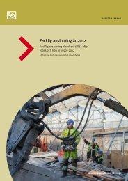 Facklig anslutning år 2012 - LO
