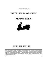 instrukcja obsługi motocykla suzuki uh150 - Suzuki Motor Poland