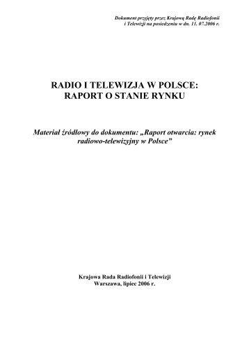 raport o stanie rynku - Krajowa Rada Radiofonii i Telewizji
