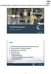 Durchflussmessungen (Folien) - VSA