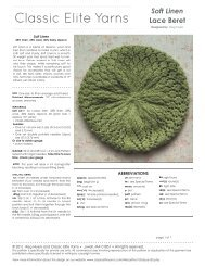 Soft Linen Lace Beret - Classic Elite Yarns