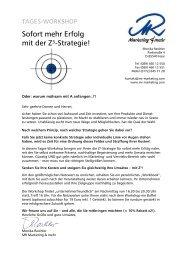 Sofort mehr Erfolg mit der Z³-Strategie! - MR Marketing