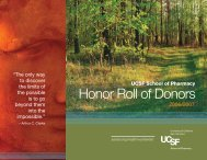 Honor Roll of Donors - University of California, San Francisco