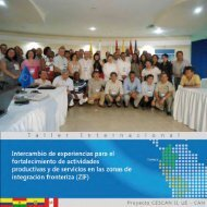 Memorias del Taller Internacional de Intercambio de Experiencias ...