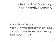 On Invertible Sampling and Adaptive Security - Spms
