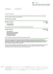 Ihre Anfrage vom 26.07.2013 10:55 Sehr ... - Steuerberaten.de