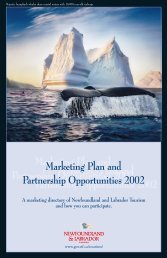 Marketing Plan and Partnership Opportunities 2002 - Tourism ...