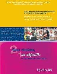 1un objectif: - Gouvernement du Québec