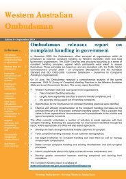 Western Australian Ombudsman Newsletter Edition 9, September ...