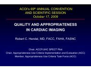QUALITY AND APPROPRIATENESS IN CARDIAC IMAGING