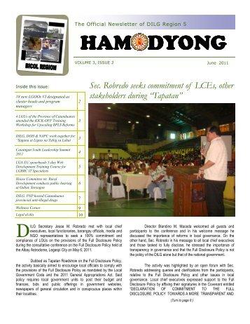 Hamodyong June 2011 - DILG Regional Office No. 5
