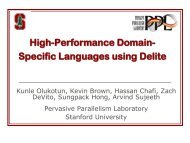 High-Performance Domain- Specific Languages using Delite