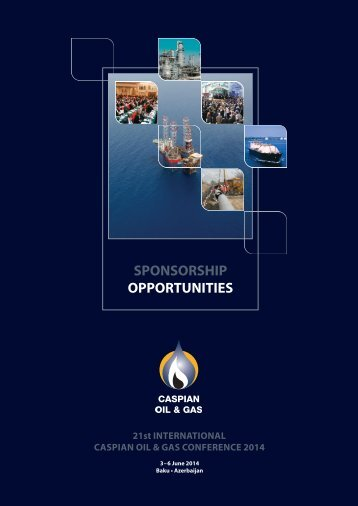 Download the Caspian Oil & Gas sponsorship brochure