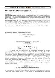 Legge Regionale 8 novembre 2004, n.12 - Comune di Alatri