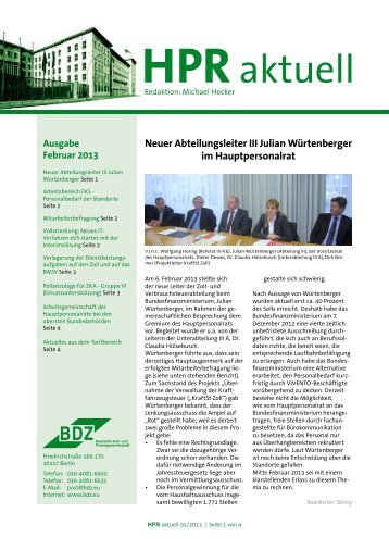 Februar 2013 - BDZ Deutsche Zoll